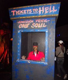 possible Halloween ticket booth