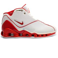 big sale 250fc d71a3 Nike Shox Vince Carter 2 White Red