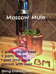 Moscow Mule - my official drink for spring!