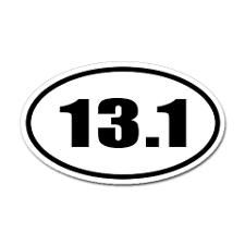I am going to be one of those people that puts this bumper sticker on my car the SECOND I finish that race. Thats right - when I've run it EVERYONE will know about it! lol