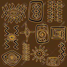 Motivos Africanos Fondo Ilustraciones Vectoriales, Clip Art Vectorizado Libre De Derechos. Image 16256285.