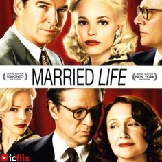 Watch Married Life on #icflix The late 1940s. Richard Langley, a bachelor playboy, narrates a story that starts when his best friend, Harry Allen, invites him to lunch to tell Richard he's in love. #MarriedLife #Movie #Drama #MovieDrama #IraSachs #RachelMcAdams #PatriciaClarkson #ChrisCooper # FiveRoundaboutsToHeaven #JohnBingham #PierceBrosnan http://www.icflix.com/#!/movie/226a950e-3bfa-11e3-8373-42a214daf9bf