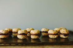 my darling lemon thyme: Chocolate-filled baby hazelnut cookies recipe