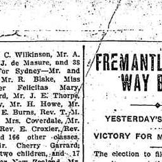 17 Jun 1909 - SHIPPING. PORT OF FREMANTLE THIS DAY. ARRIVED.