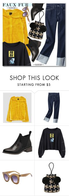 """""""Wow Factor: Faux Fur"""" by paculi ❤ liked on Polyvore featuring fauxfur"""