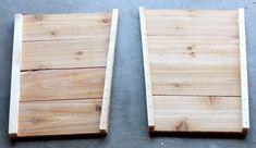 How to build DIY tapered cedar planters Planter Box Plans, Cedar Planter Box, Garden Planter Boxes, Diy Wooden Planters, Diy Planters Outdoor, Wooden Diy, Woodworking Plans, Woodworking Apron, Woodworking Magazine
