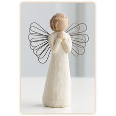 "ANGEL OF WISHES, Willow Tree Angel. Means: ""May you always hold on to your dreams"" #angels #caring #love #gifts #friendship #wishes #dream #christmas #fastdeliveries #hope #repost #tag"