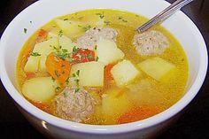 Russische Frikadellen - Suppe