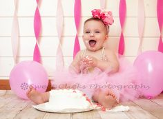 I love this first birthday photo by Sweet Clicks Photography