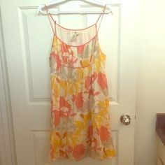 Studio M Dresses & Skirts - Cream, Coral, Pink, Yellow & Orange Sundress XL