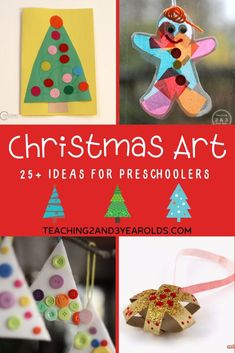 Looking for some simple Christmas art ideas? Here are 22 easy and fun activities that preschoolers love! #christmas #ornaments #art #craft #holidays #paint #preschool #3yearolds #4yearolds #kidsactivities #teaching2and3yearolds Merry Christmas, Christmas Jingles, Christmas Tree Cards, Simple Christmas, Christmas 2017, Silver Christmas Decorations, Christmas Themes, Christmas Crafts, Christmas Ornaments