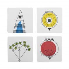 Glasunderlägg Picknick 4-pack