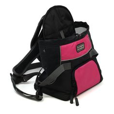 Pet Accessories -- Kyjen Outward Hound Front Carrier -- Adjustable padded shoulder straps distribute weight evenly over back, waist strap for added stability and comfort. Tough, 600 denier nylon fabric is soft but durable and bright colors provide high visibility. Has a drawstring top and venilated sides to keep your pet comfortable and secure. Designed for pets weighing up to 10-pounds.