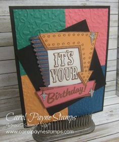 Marquee Messages, color blocking technique, copper embossing, Confetti Textured Impressions folder, DiY Crafts, paper crafts, #imbringingbirthdaysback, #carolpaynestamps