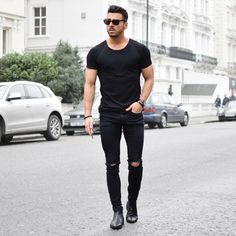 Fashion men style moda masculina fashion, mens fashion y sty Men With Street Style, Men Street, Street Wear, Style Men, Mode Outfits, Casual Outfits, Men Casual, Casual Jeans, Fashion Mode