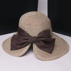 Chic Big Bow Embellished Sun-Resistant Straw Hat For Women Crochet Summer Hats, Crochet Hat For Women, Crochet Hats, Tartan Clothing, Sombrero A Crochet, Summer Hats For Women, Love Hat, Cool Hats, Big Bows