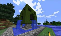 Creeper fountain! Minecraft Project