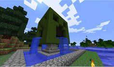 Creeper fountain! Minecraft Project