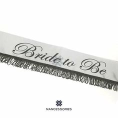 Bride To Be Fringed Sash