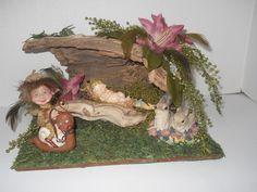 OOAK Woodland Fairy Hideaway, House, Display, Fantasy