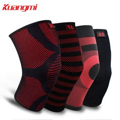 Kuangmi Knitted Knee Pad Elastic Knee Brace Compression Sleeve Protector Sports Leg Warmer Guard Tennis Running Gym Crossfit