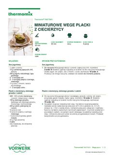 thermomix - Miniaturowe wege placki Make It Simple, Recipies, Dinner, Cooking, Food, Diet, Thermomix, Recipes, Dining