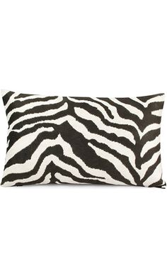 Chloe & Olive Walk on the Wild Side Luxe Faux Fur Zebra Collection 12 by 20-Inch Lumbar Decorative Pillow with Feather/down Insert (1 Pillow) - Faux Fur Zebra and Faux Suede - Black and White Best Price