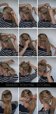 Braided Ponytail Tutorial - I want to try this ... probably best for thicker hair