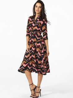 Split Neck Single Breasted Belt Printed Maxi-dress Only $32.95 USD More info...