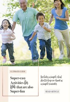The Ultimate Guide: Super-easy activities for kids that are also super-fun. Find it atgrandmasplace.com and pick up your free activity cheatsheet at the same time.