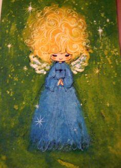 61 best vintage greeting cards images on pinterest retro christmas vintage greeting card christmas card blonde angel angel girl with blonde m4hsunfo