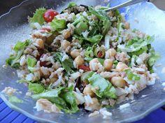 Reteta culinara Salata cu naut, ton si orez din categoria Salate. Cum sa faci Salata cu naut, ton si orez