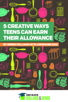 5 Creative Ways Teens Can Earn Their Allowance by Wendi Williams of @playgrounddad  #money