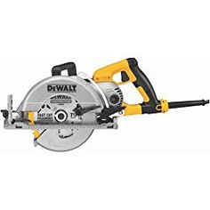 DEWALT Worm Drive Corded Circular Saw with Aluminum Shoe at Lowe's. The DEWALT® In. worm drive circular saw is lightweight. The lightweight magnesium construction optimizes user Circular Saw Reviews, Best Circular Saw, Cool Tools, Diy Tools, Barbecue, Worm Drive Circular Saw, Compound Mitre Saw, Dewalt Tools, Miter Saw