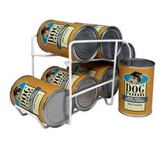IRIS Wire Can Dispenser for Canned Dog Food Storage, 22-Ounce, 6 Cans