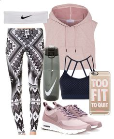 Workout by forever-inspired ❤ liked on Polyvore featuring adidas, NIKE, Lorna Jane and Casetify