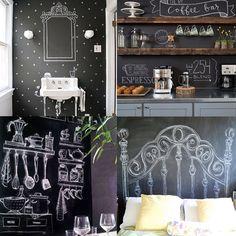 Que tal mudar o estilo da decoração sempre que quiser? Você só vai precisar do nosso Adesivo Lousa, giz e um pouco de criatividade. E na sua casa, onde aplicaria?