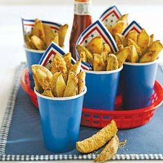 4th of July recipes: Garlic Baked Potato Wedges