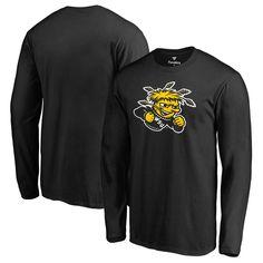 Wichita State Shockers Fanatics Branded Big & Tall Primary Team Logo Long Sleeve T-Shirt - Black