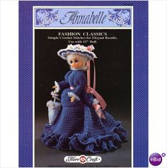 "Fibre Craft ""Annabelle"" dolls outfit Crochet Pattern FCM167"