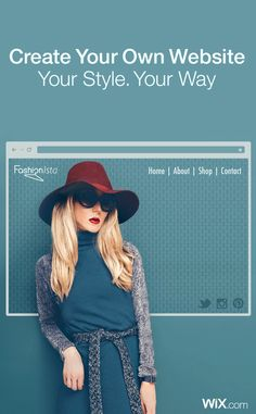 You've got your own style, now it's time to get your own website! Web Design, Tool Design, Graphic Design, Swarovski Outlet, Lisa, Create Your Own Website, Free Website, Blog Tips, Cheap Dresses