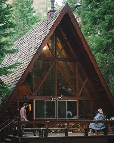 Ideen rund ums Haus Dream A-Body cabin So don't simply purchase the primary residence brewing packag A Frame Cabin, A Frame House, Tiny House Cabin, Log Cabin Homes, Cabins In The Woods, House In The Woods, Cabin Design, House Design, Ideas De Cabina