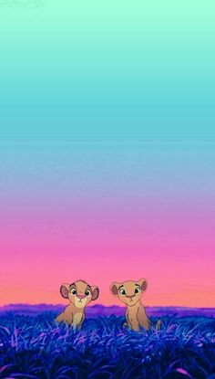 Lion Kings Simba And Nala Phone Background Wallpaper
