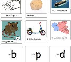 Sorteerspel -b, -p, -d en -t. Met dit spel kunnen kinderen oefenen of woorden eindigen op een -b, -p, -d, -t. Te vinden op de leermiddelendatabase van digischool http://leermiddel.digischool.nl/po/leermiddel/d099c72877f4f1d4c16c7359a51e7cb8?s=3.0
