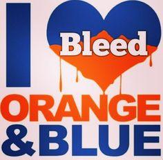 Bleed orange and blue