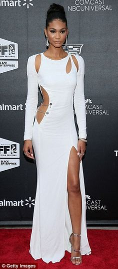 Stunners: Chanel Iman (L) made a splash at the Dope Opening Night Pre...