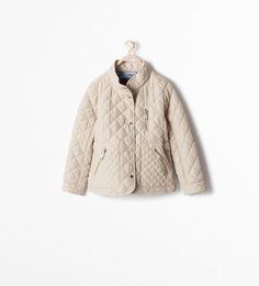 ZARA - COLLECTION SS15 - ZIPPED QUILTED COAT