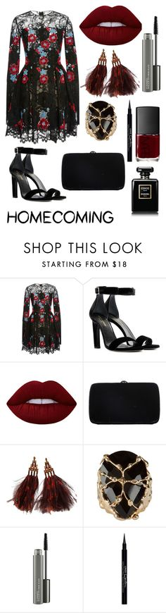 """""""Sem título #397"""" by bia-melo ❤ liked on Polyvore featuring Elie Saab, Yves Saint Laurent, Lime Crime, Sergio Rossi, Louis Vuitton, Rosantica, MAC Cosmetics, Givenchy and NARS Cosmetics"""