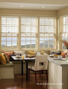 Lutron's automated Venetian blinds are perfect for letting the sun in--or keeping it out.  www.lutron.com/venetians