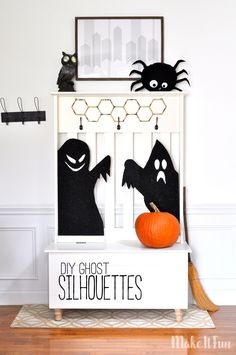 Are you looking for cute decor to haunt your house this season? These super fun Ghost Silhouettes will be the star of the show! All you need is foam sheets and paint to create this eerie Halloween …by Kim of madeinaday.com